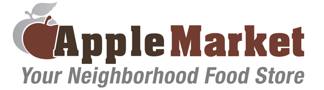 A theme logo of Apple Market